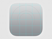 iOS 7 OCD App Icon Template Grid