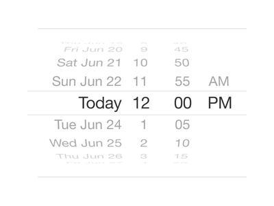 iOS Date Picker