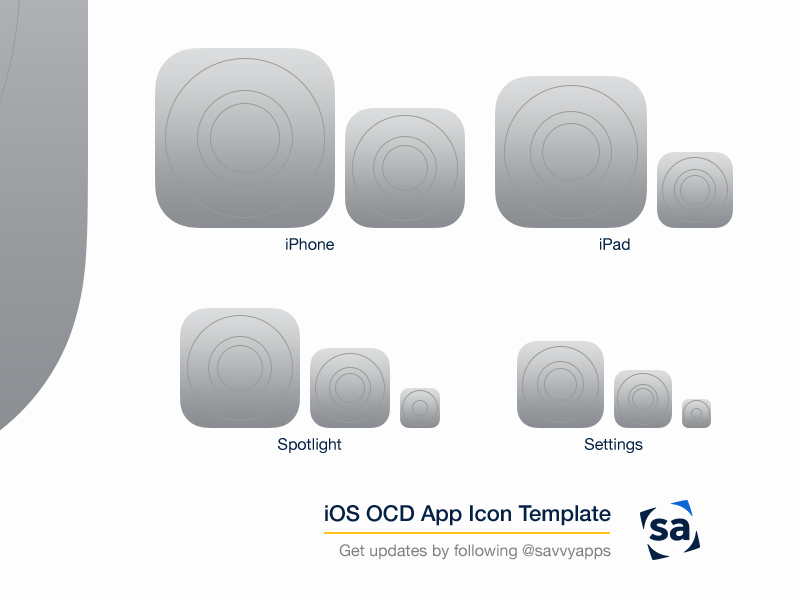 Ios app icon template by angelday freebie supply.