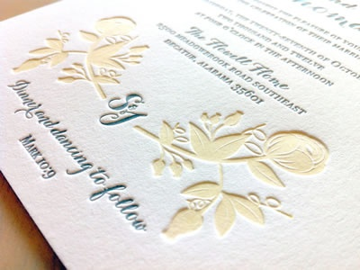 Sarah John Wedding Suite - Second Color letterpress sagetopia neenah paper