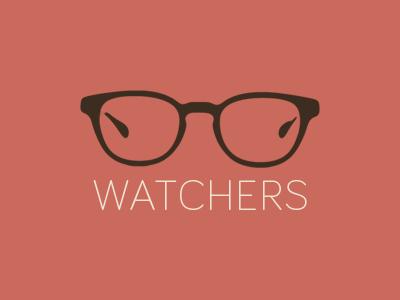 Watchers logo flat glasses bariol minimal icon simple identity glass