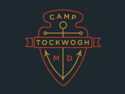 Camp Tockwogh badges badge crest anchor arrowhead chesapeake bay