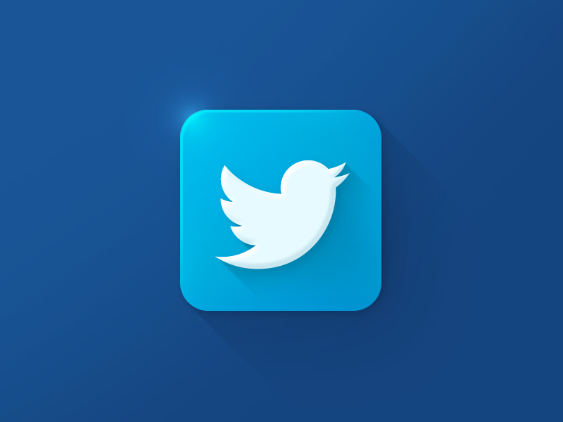 Twitter Icon twitter icon logo blue clean xalion 3d colorful color