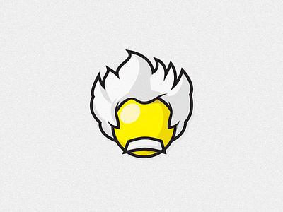 Einstein einstein logo mascot 2d 3d simple geeky xalion