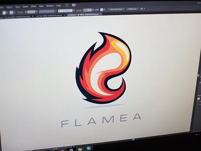 Flamea - Logo Mark flame logo mark orange xalion colors letter design fire fire logo cartoonish