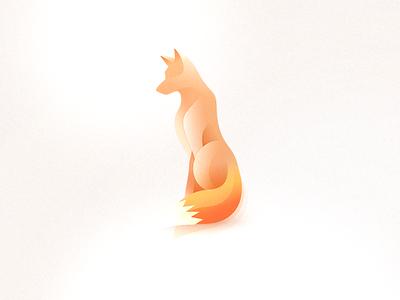 Fox - Wind animal Logos style gradients orange cute wolf foxy simple fox animal wind logo