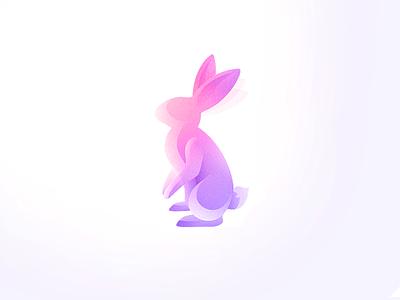 Bunny - Wind animals animal illustration mark logo usama xalion animals wind bunny