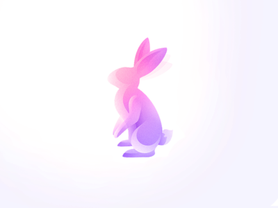 Bunny - Wind animals animal illustration mark logo usama xalion animals wind bunny