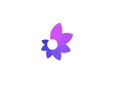 Abstract - Logo Mark spiral increase flower clean calm yoga purple floral spiritual