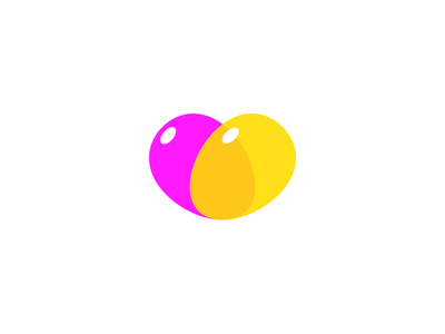 Heart Balloons iOS Icon cartoonish warm pink logo cute dating simple heart balloons