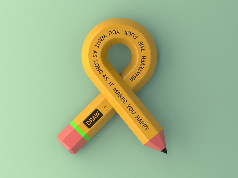 Pencil - Daily 3D ampersand c4d pencil 3d daily 3d
