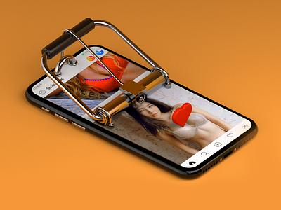 Click Bait - Daily 3D ui isomteric c4d illustration instagram rebound concept render 3d
