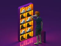 Online Shopping - Daily 3D