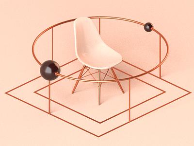 Poles - Daily 3d planets aesthetic minimal app c4d cinema 4d illustration render 3d rendering 3d render