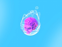 Daily 3d - Bubble Skull