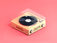 Daily 3d - Modern Vinyl Player