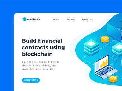 Blockchain Landing page - Concept