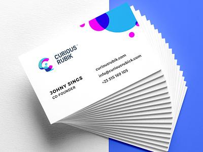 New Behance Project gradient logo unique logo design creative logo design businesscarddesign stationery business card logo