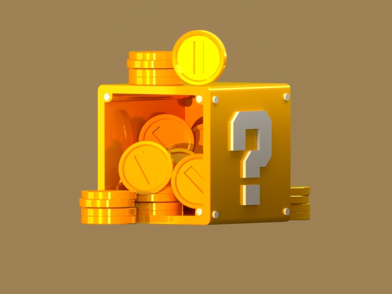 Golden coin box illsutration - Youtube tutorial tutorial 3d modeling 3d art golden game art game ui 3d box coins c4d cinema4d 3d illustration illustration 3d