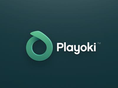 Logo mark - playoki logo playoki xalion 3d green simple colorfull