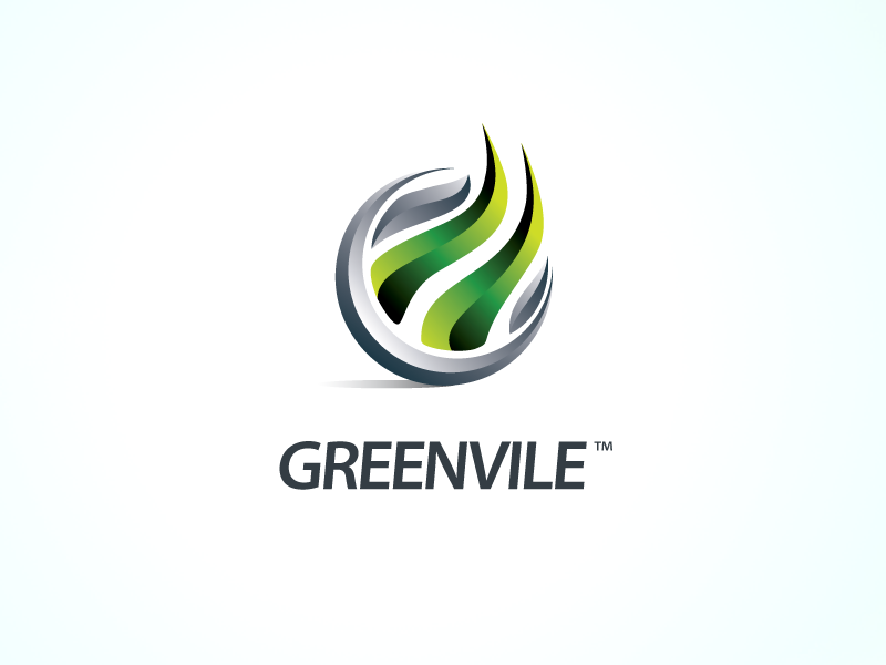 Logo mark - TechCornerNW logo green 3d contrast xalion yellow green ville