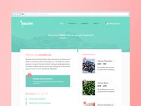 Material Webshop design