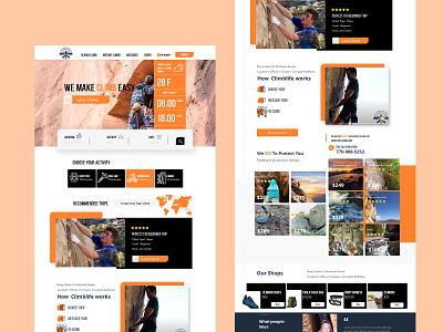climb landing page design ux ui simple sports sport travel sports design sport elegant photoshop website