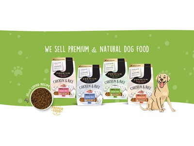 dog food web banner