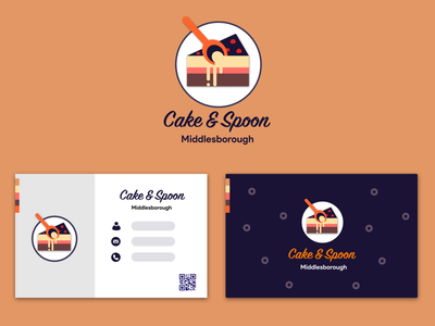 Cake and Spoon - Brand and Business Card Design corporate art logotype identity design typography design logo vector branding sketch illustration dribbble behance