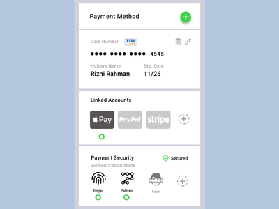 Mobile Payment Settings