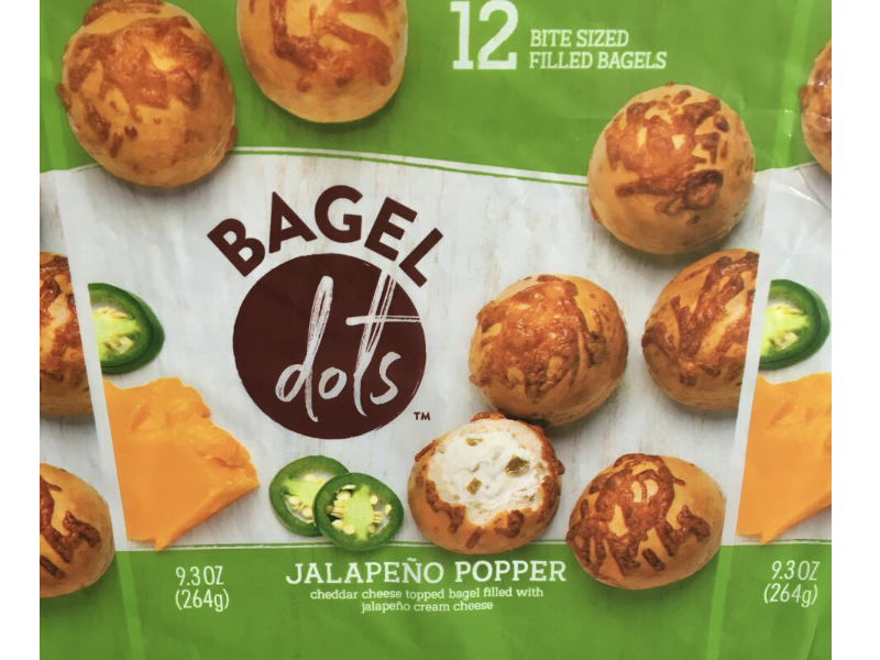 Bagel Dots coming off the press! cheese balls green package design packaging frozen breakfast jalapeños bagels press check