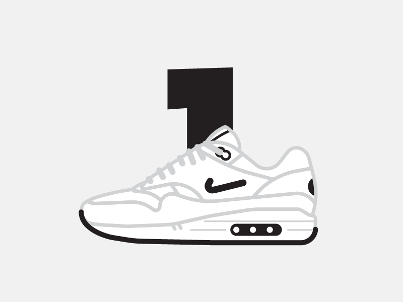 the best attitude f5baf a81db Minimal Maxes—Air Max 1 vector thick lines line minimal air max nike  sneakers shoes