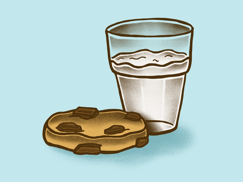 Food Journal Day 17 lunch procreate cookies milk food art tattoo art food design cartoon illustration