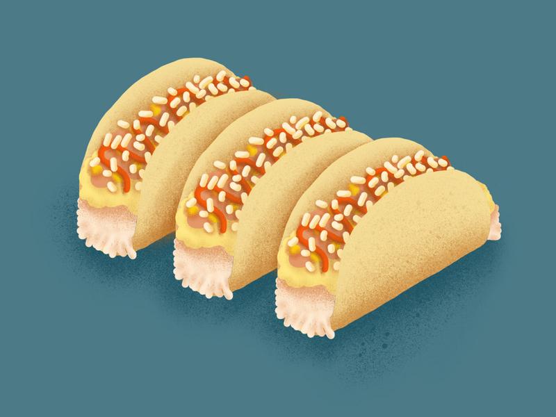 Food Journal Day 22 photoshop illustrator design procreate texture doodle breakfast tacos food illustration