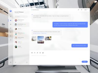 Customer Service Platform - 1 clean ui web