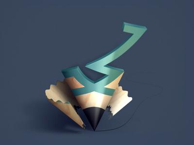 Memet Logo personal mohammad arabic persian typography designer pencil logo
