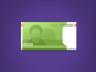 100,000 IRR (﷼) / Riâl-e Irân / cash money iran app dashboard icon