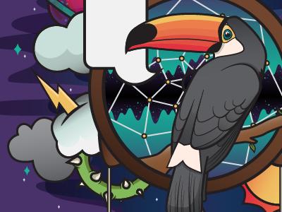 Walking on A Dream vector dream toucan