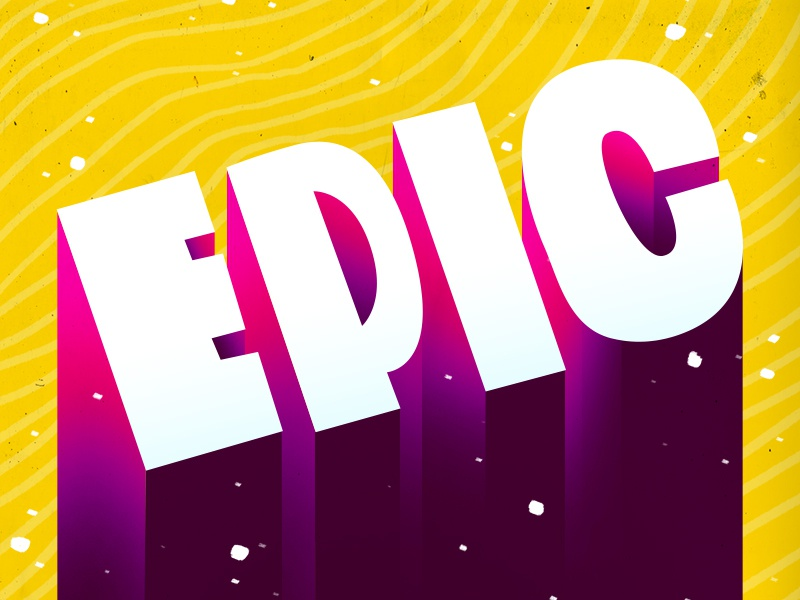 Epic the100dayproject type epic typography