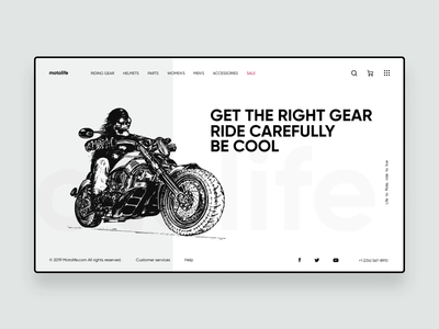 Motorcycle clothing, helmets and accessories.
