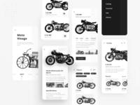 Motorcycle E-commerce App Concept
