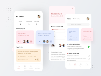 Task Manager App Concept team plan task manager ios ux