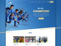 Chonburi F.C | Landing Page Concept