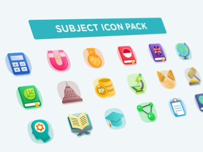 Subject Icon Pack For Ruangguru