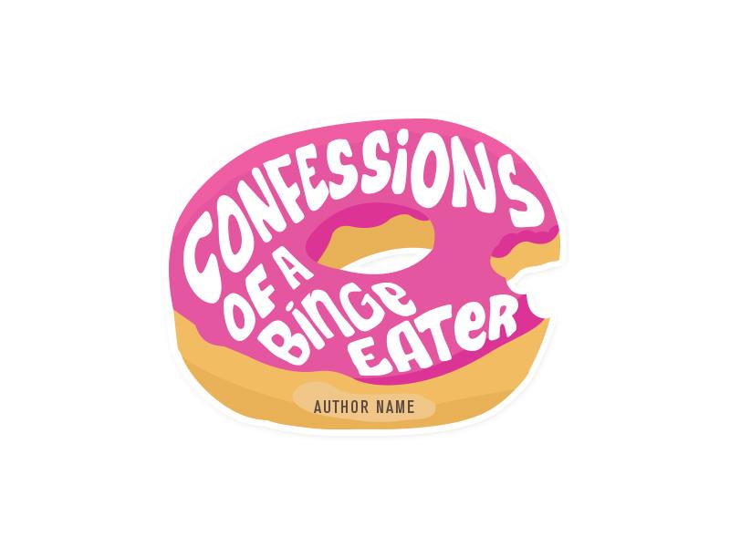 Logo for a blog about binge eating and self-derision blog donut handlettering logotype