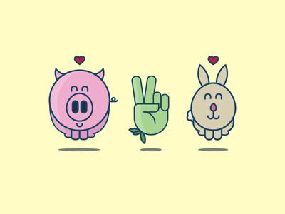 Vegan icon series vector icons vegan