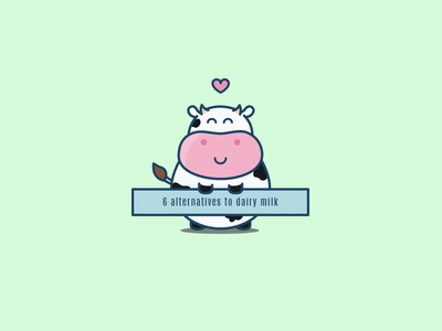 Lola the cow promoting alternatives to cow's milk :) vector icons vegan