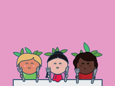 Characters - The Vegan Carrots diversity characters carrot kids vector icons vegan
