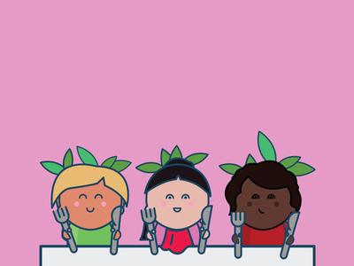 Characters - The Vegan Carrots diversity characters carrot kids vector icons vegan