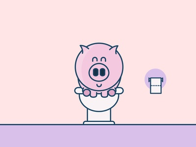 Pigs love to be clean carrot kids kid fun illustration icon pigs